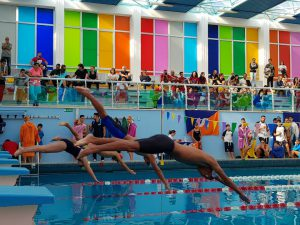 Melfi piscina Un momento delle gare