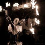 Rionero in Vulture l'esibizione col fuoco con Elektra