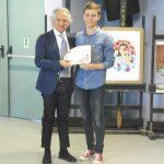 Venosa 1° premio Licei scientifici e Scienze Umane Davide Mastrorillo da Trani premiato dal Sindaco