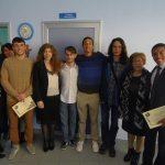 Venosa alcuni vincitori del XXXI Certamen Horatianum al centro Matteo Joao Ramponi 1° posto dei licei classici