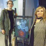 Venosa il vincitore sezione Licei Artistici Angelo Valente da Bari con la prof.Maria Rosaria Celestino