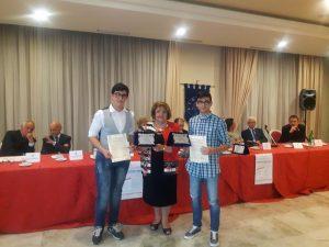 Trebisacce i due studenti del Liceo Classico di Venosa giunti primi Martinelli e Ungaro