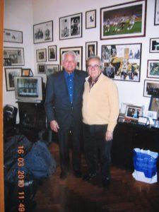 Auguri a Franco Valsania per i 70 anni nella foto con Boniperti