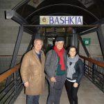 Ginestra Michele Placido col Sindaco Fiorella Pompa e l'attore Ulderico Pesce davanti al Comune (Baskia)