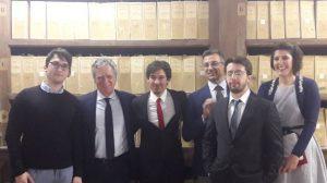 Giovanni Balducci il primo da sx con a fianco Nando dalla Chiesa e gli altri vincitori