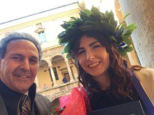 Auguri a Ylenia Menchise , figlia del direttore di orchestra Pasquale,di Genzano di Lucania Laurea in Giurisprudenza presso Università di Bologna