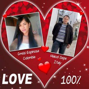 Greise Espinosa e Maicol Sepe