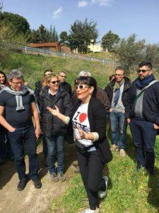 Barile Elena Fucci con degustatori provenienti dalla Campania